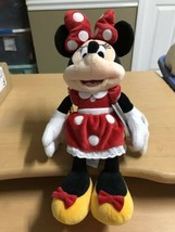 "Disney Red Polka Dot Minnie Mouse Plush Small 14"" New - $14.00"