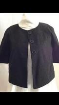 Banana Republic Women's Blazer Black 3/4 Sleeve Crop Style Size Small NWOT - $14.84