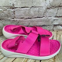 Crocs Pink Elastic Strap Open Toe Sandals Womens Size 10 - $32.34