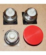 Square D & GE Mushroom Push Button Switches 3 Each KR25R & DR249 USA Par... - $11.99