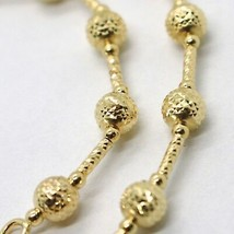 18K YELLOW GOLD BRACELET FINELY WORKED 5 MM BALL SPHERE AND TUBE LINK 7.... - $437.00