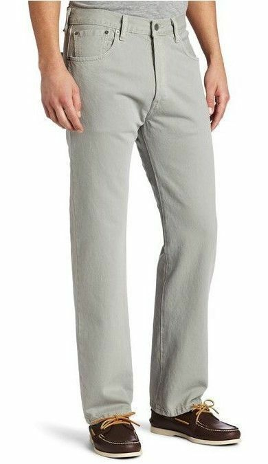 NEW LEVI'S 501 MEN'S ORIGINAL FIT STRAIGHT LEG JEANS BUTTON FLY GRAY 501-1213
