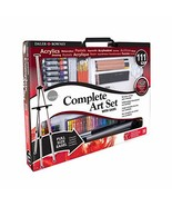 Daler Rowney Complete 111-Piece Art Set with Full-Size Easel, Includes P... - $84.50