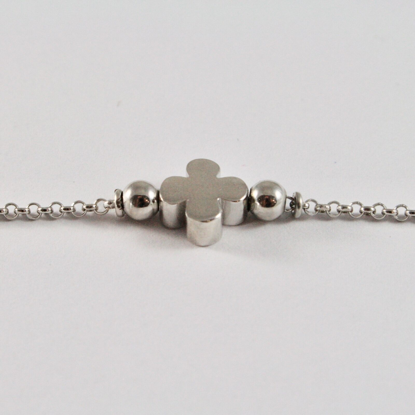 Silver 925 Bracelet Jack&co Clover Good Luck Stylised JCB0819