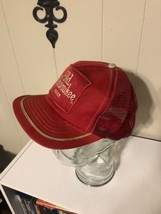 Old Milwaukee Beer Patch Hat Trucker Red Mesh Made In USA Cap image 2