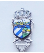 Collector Souvenir Spoon Cuba Coat of Arms Porcelain Emblem - $19.99