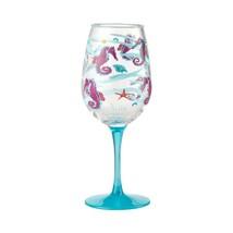 "Seahorse ""Designs by Lolita"" Acrylic Wine Glass Set of 2 - 16 o.z. image 2"