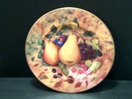 2~FRUIT DINNER PLATES~ST. MARTIN EMAIL DE LIMOGES SIGNED FIORILLI 10 1/4... - $10.74