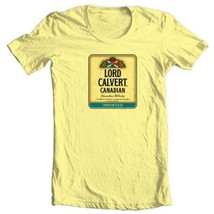 Lord calvert t shirt canadian whisky beer yellow white 100  cotton graphic tee thumb200