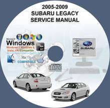 Subaru Legacy Outback 2005 2006 2007 2008 2009 Workshop Service Repair Manual - $15.00