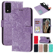 F Samsung A01 Core A11 A21S M01 M51 S20 Note 20 Leather Magnetic Flip Ca... - $65.68