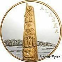 Alaska Mint TOTEM POLE Silver Medallion Proof 1Oz - $118.79