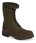 TIMBERLAND® MENS SPECIAL RELEASE MIXED-MEDIA GAITER BOOTS GREEN BROWN LI... - $103.39