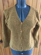 Eileen Fisher Womans Petite Medium Rust Black Marled Cardigan Sweater - $19.25