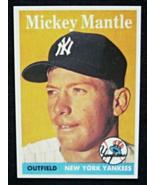 1958 Topps Baseball #150 Mickey Mantle [New York Yankees] Reprint - $3.25