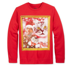 NEW MENS AMERICAN RAG CAT PORTRAIT RED SWEATSHIRT XL - $13.99