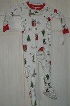 NWT Carter's 12M White with Christmas Design Footed Pajamas PJ's - $18.81