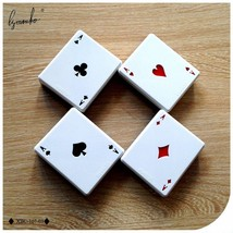 Lymouko New Design Hot Playing CARDS Letter with Mirror Contact Lens Cas... - $10.33