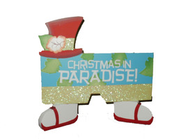 """NWT """"Christmas in Paradise"""" Wooden Sign - $13.99"""