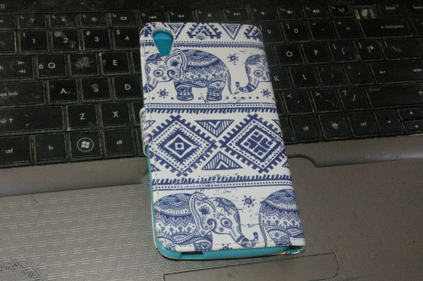 HTC Desire 626S Flip Wallet Cell Phone Case Card Holder Pocket Elephant Design