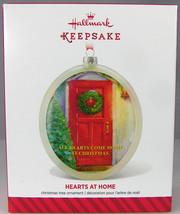 HEARTS AT HOME Red Door Wreath 2014 Hallmark Christmas Holiday Ornament NIB - $9.50
