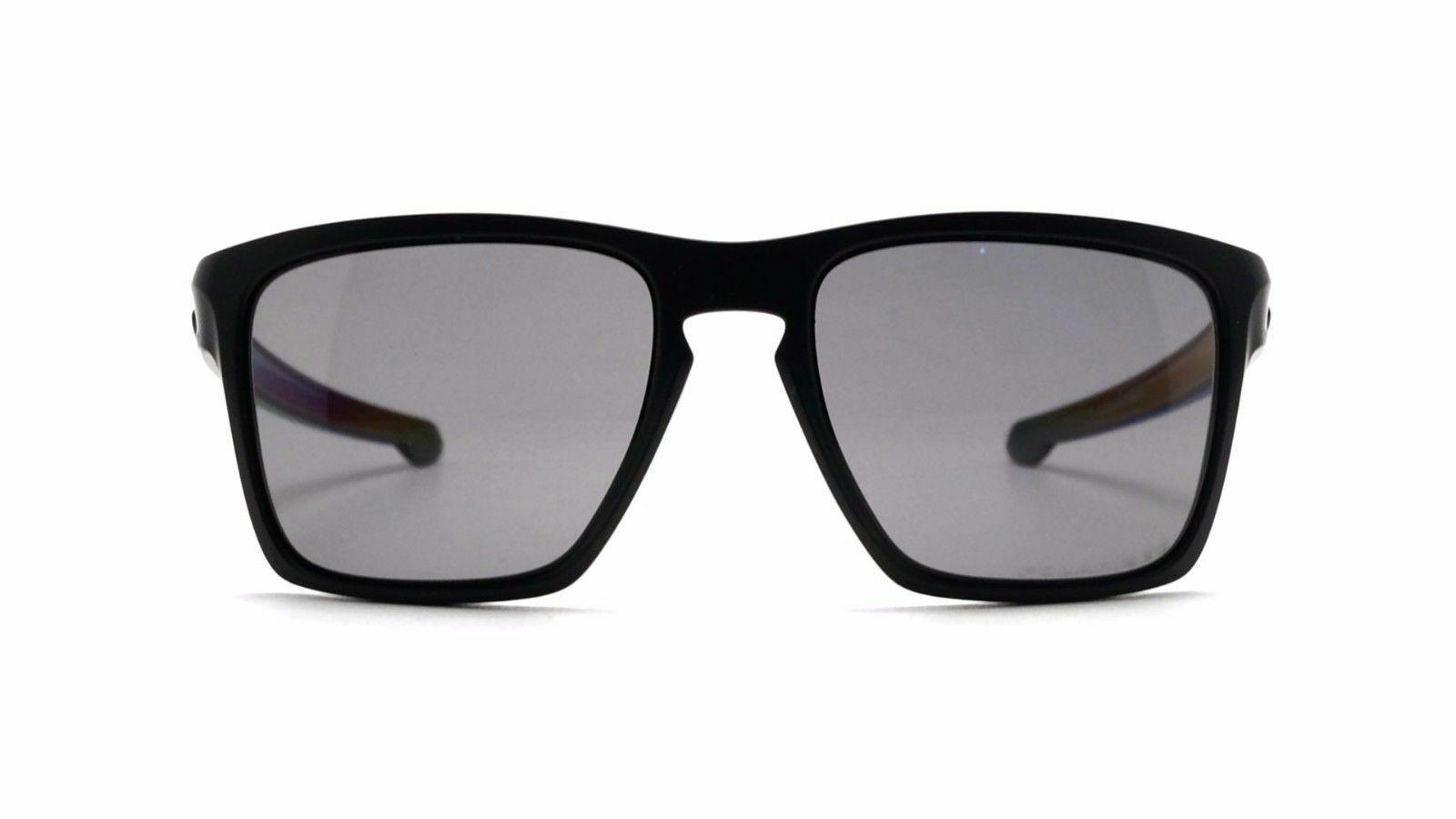 Oakley Sliver XL Polarized Sunglasses OO9341-01 Matte Black/Grey polarized NEW
