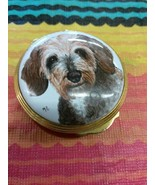 Cute LUCKY Dog Enamel Covered EXIMIOUS Hinged Cover Box No Reserve - $9.99