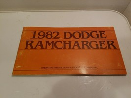 1982 Dodge Ramcharger Owner's User Guide Operator Manual 5.2L V8 Operating - $22.95