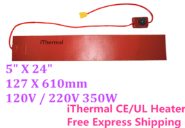 "5"" X 24"" 127 X 610 mm 350W Ukulele Side Bending Heating Blanket Thermost... - $69.99"