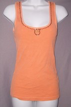 American Eagle Outfitters Shirt Orange Sleeveless Tank Cotton Womens Size S EUC - $4.99