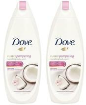 Dove Coconut Milk & Jasmine Petals Body Wash 16.9 Oz / 500 ML (Pack of 2) - $14.99