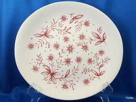 Johnson Brothers Glenwood Dinner Plate Oval Windsor Ware Cream Red Floral Chips - $13.54