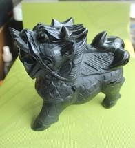 "6.4"" Obsidian Natural Quartz Crystal Kylin  Lucky Carved 3.99lb - $118.78"