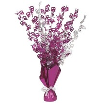 """16"""" Happy 40th Birthday Pink Sparkle Foil Weight Table Centerpiece - $13.21"""