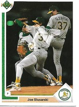 Baseball Card- Joe Slusarski 1991 Upper Deck #777 - $1.25
