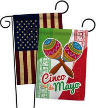 Maracas Cinco de Mayo - Impressions Decorative USA Vintage - Applique Garden Fla - $30.97