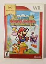 Super Paper Mario 2007 Nintendo Selects Wii Video Game CIB Complete - $16.78