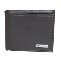 Tommy Hilfiger Men's Leather Fordham Bifold Wallet with Coin Pocket, Brown