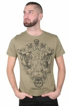 Versace Jeans Greek Gods Sphinx Mix Graphic Men's Fitted T-Shirt NWT image 4