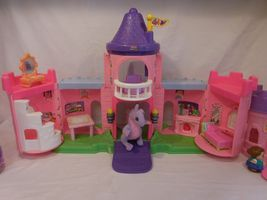 Fisher Price Little People Pink Castle + Play 'N Go Castle + Princess Carriage image 11