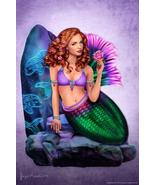 Mermaid Celtic Stone by Brigid Ashwood Art Print Poster 24x36 inch - $21.00