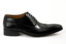 Shell Cordovan Men Hand Made Treasure Bearer Gaspare Wingtip Black Leather Shoes image 2