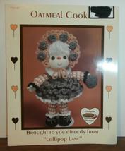 Oatmeal Cookie Doll Lollipop Lane Dumplin Designs Crochet Pattern Leaflet  - $6.89