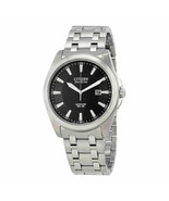 New Citizen Men's Eco-Drive Black Dial Stainless Steel Watch BM7100-59E - $177.21