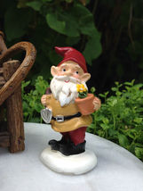 New Garden Decor Accessories Miniature Fairy Garden ~ Tiny Gnome Gardener - $13.00