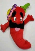 "Sugar Loaf Plush Toy Chili Pepper With Sombrero & Mustache 16"" Htf - $24.95"