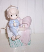 Precious Moments Childs NIGHT LIGHT Table Lamp Boy Candle 1991Samuel J. ... - $14.84