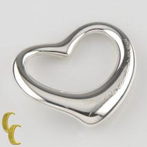 Tiffany & Co. Plata de Ley Elsa Peretti Grande Colgante Corazón Abierto Bonito - $200.48