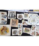 VTG mixed lot of Cats Kittens Romantis Scenes Cute Bear Donkey Ceramic D... - $34.65