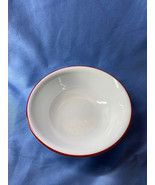 Corelle South Beach Vitrelle Red Ring On Outer Rim Cereal Soup Bowl 2 Inch - $15.99